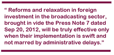 Foreign Investment boosts Indian broadcasting sectorLegal Era