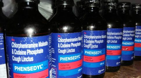 Phensedyl cough syrup