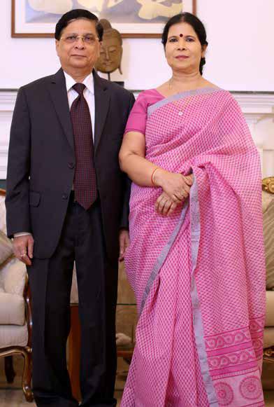 Justice Dipak Misra and wife Suprama Misra