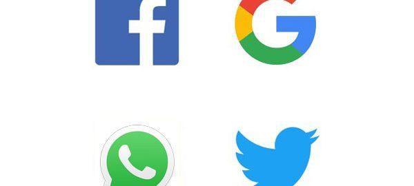 Facebook-Twitter-Whatsapp-Google