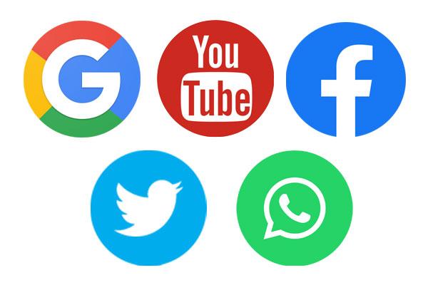 Google-YouTube-Facebook-Twitter-&-WhatsApp